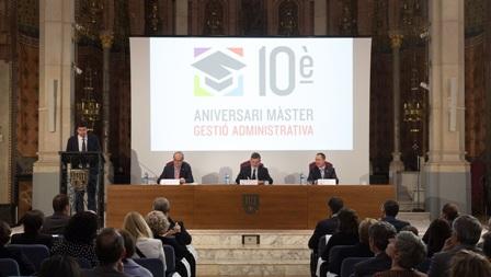 Acte commemoratiu del 10è aniversari del Màster en Gestió Administrativa de la UAO